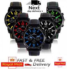 Mens Watches Sports Wrist Boys Army Silicon Strap Quartz Cheap Men Watch Black