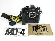 Nikon F3 HP Spiegelreflexkamera SLR + MD-4 motor drive + Anleitungen + Batterien