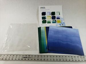 Pack of 12 Creative Memories 12x12 Emerald Gemstone Tone On Tone Paper Sheets