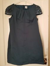 Womens Blue/Green Dress Belle By Oasis Studded Uk 14- 16