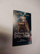 2004 Disneyland Park Hopper TICKET Twilight Zone Tower of Terror Hotel Disney