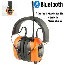 NEW BLUETOOTH HEADSET AM FM RADIO WORK HEADPHONES SAFETY EAR MUFFS NOISE IPHONE