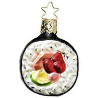 Inge-Glas 1-125-09 112509 Hand Rolled Sushi German Hand Blown Christmas Ornament