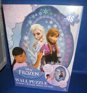 "CARDINAL DISNEY FROZEN 46 PIECE WALL PUZZLE 24'X 36"" NEW IN BOX"
