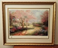 Thomas Kinkade Morning Dogwood Lithograph 1732-4850 Beautiful Frame & Glass COA
