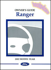 2002 FORD RANGER OWNERS MANUAL PICKUP TRUCK HANDBOOK GUIDE 02 4X4 OWNER'S BOOK X