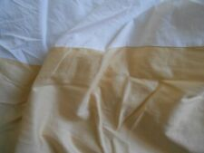 "Charisma yellow sateen 100% cotton king bed skirt 14"" drop"