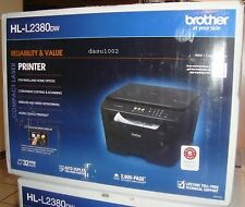 New Brother HL-L2380DW Wireless 3-in-1 Laser Printer AIO Copy Scan 2380dw Black