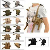 Adjustable Nylon Shoulder Pistol Gun Holster Holder Double Magazine Pouch Bag US