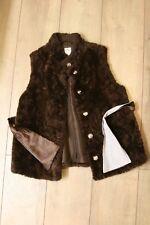Gymboree girls brown faux-fur vest size 5/6