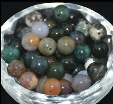 20Pcs Wholesale Indian agate Natural Gemstone Round Spacer Loose Beads 8mm