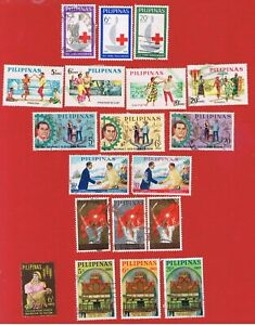Philippines #886-905  VF used  6 sets plus single  Free S/H