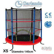Garlando - COMBI XS - TRAMPOLINO ACCIAIO con RETE da INTERNO ed ESTERNO 140CM