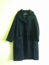 ASOS Coat In Cocoon Fit With Faux Fur Collar(Navy w/black)RRP £110.00