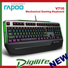 RAPOO V710 7-Colour Waterproof Mechanical Gaming Keyboard w/Blue Switch 108Keys