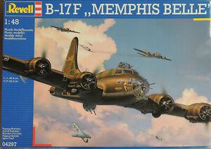 WWII B-17F FLYING FORTRESS MEMPHIS BELLE REVELL 1:48 PLASTIC MODEL AIRPLANE KIT
