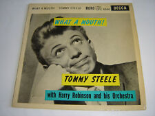 """TOMMY STEELE - WHAT A MOUTH - 1960 DECCA 7"""" EP - EXCELLENT CONDITION"""