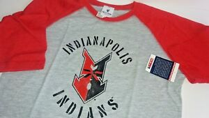 Minor League Baseball Indianapolis Indians Shirt  Three Quarter Sleeve Youth L