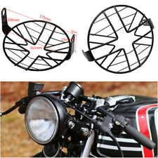 "6.5"" Headlight Mesh Grill Guard Black Motorcycle Headlamp Light Cover Protecter"