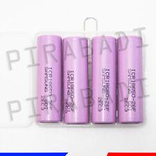 4 PILES ACCUS RECHARGEABLE 18650 3.7V 2600mAh Li-ion + BOITE DE RANGEMENT OFFERT