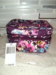 Vera Bradley Jewelry Train Case Indiana Rose MSRP $60 Travel Organizer Cosmetic