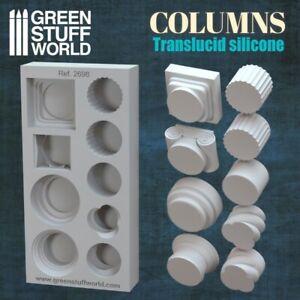 Moldes de Silicona Columnas - Molde Goma construccion pilares modelismo 40K