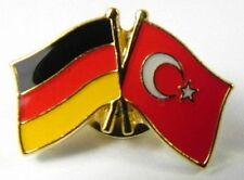 Deutschland Türkei  Freundschafts Flaggen Pin,Souvenir Germany