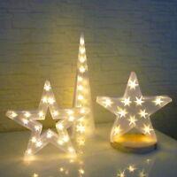 3D Weihnachtsdeko Stern Lichterpyramide Led X-MAS