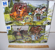 Cowboys Western Playsets Includes:Stage coach set Plus Covered Wagon set. LOOK!