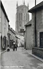 Quaint Old Street Cromer unused RP old postcard Judges 3144