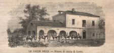 1868 Licola Napoli xilografia