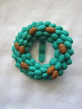 New! FISHER PRICE Loving Family Dollhouse CHRISTMAS WREATH w/ PINE CONES HOLIDAY