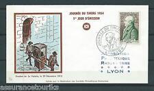 PREMIER JOUR FDC - 1954 YT 969 - JOURNÉE DU TIMBRE