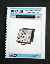 B&K DYNA-JET 707 Tube Tester Manual, Tube Data
