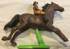 Britains Plastic Hunter Jumper Bay Horse and Lady Rider Figurine