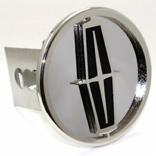 """Lincoln Logo Chrome Tow 2"""" Receiver Hitch Cover Real Stainless Steel Plug"""