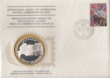 Netherlands 1975 First Day Cover Limited Edition Sterling Silver Medal Proof
