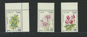 Algeria Sc 936-8 Flower Types, Jasminum, Dianthus, Cyclamen