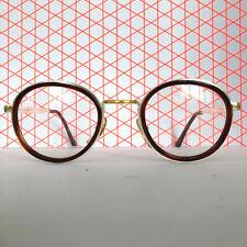 Brille Brillengestell Vintage Prestige Mod. 145 gold silber braun rund Panto NOS