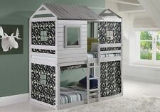 Fort Bunk Beds with Camo Tent