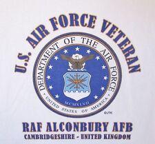 RAF ALCONBURY* CAMBRIDGESHIRE-UNITED KINGDOM* U.S.AIR FORCE EMBLEM*SHIRT