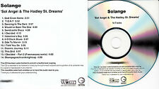 SOLANGE Sol Angel & The Hadley St Dreams UK 14-trk promo test CD Knowles