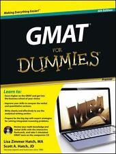 GMAT For Dummies, with CD, Zimmer Hatch, Lisa, Hatch, Scott A., Good Book