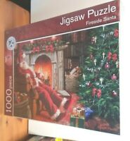 M&S 1000 Piece Jigsaw Puzzle called Fireside Santa New Sealed