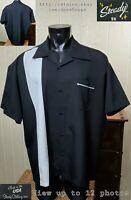 Steady Clothing Co. Panel Color Block Lounge Casual Men's Black Shirt Sz 3XL