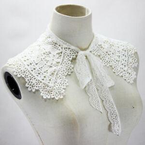 Women Detachable Lace Collar Lapel Choker Necklace Shirt Cloak Fake False Collar