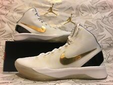 New & DS (YEAR 2011) Nike Zoom Hyperdunk Elite White Gold 511369-100 SZ 11 RARE
