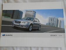 Subaru Legacy range brochure 2009 Arabic & English text