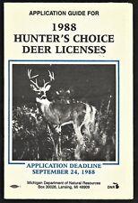 1988 Michigan Hunting Choice Deer Licenses Application Guide - Michigan Dnr
