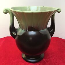 Mid Century CROWN DEVON, Green and Black 7.5' Drip Glaze Urn/Vase A143 c.1950's